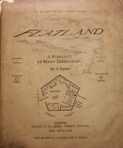 "A second edition of ""Flatland,"" published in 1884."